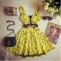 Vestido Renda Rodado Formatura Moda Casual Saia Media