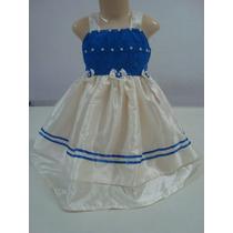 Vestido Lindo Em Tafetá Rendado No 2 Anos! Modelo 051.