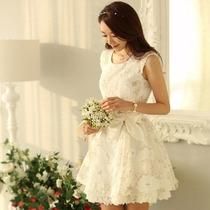 Lindíssimo Vestido De Organsa Festa Casamento Bordado Renda