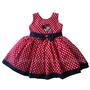 Vestido Festa Minnie Vermelho/preto 1 A 4 Anos