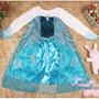 Fantasia Infantil Vestido Elsa Frozen Princesa Disney Luxo