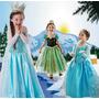 Fantasia Infantil Da Frozen A Pronta Entrega