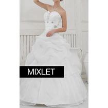 Vestido De Noiva Longo Branco Princesa Tomara Que Caia