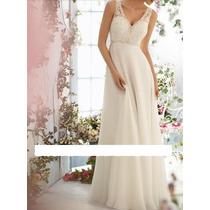 Vestido De Noiva Importado - Pronta Entrega - Fotos Reais!