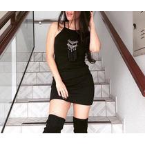 Vestidos Femininos Curtos Regata Tubinho Coladinho- Pp Ao Gg