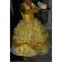 Vestido Bela (bela E A Fera) 4 Anos
