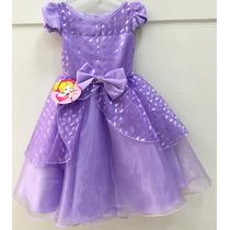 Vestido Infantil Festa Princesa Sofia Pronta Entrega!