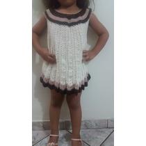 Vestido De Crochê Infantil Feito A Mão