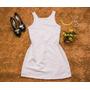 Vestidos Curtos Branco Festa Ano Novo Suplex Feminino Luxo