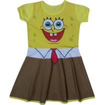 Vestido Infantil Bob Esponja