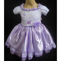 Vestido De Festa Infantil Princesa Luxo - Jardim Borboletas