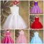 Vestido Infantil Princesa Flores Casamento Dama De Honra