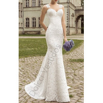 Vestido Sereia Longo De Festa/noiva Em Renda