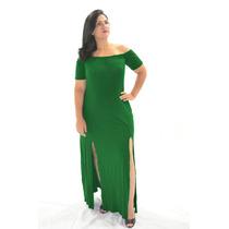 Vestido Longo Gisp Cigana Aberto Na Perna Fenda - Viscolycra