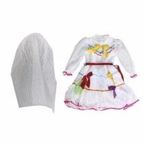 Vestido Festa Junina Noiva Laços 4 A 16 Anos - Frete Grátis
