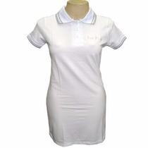 Vestido Les Filós Gola Polo Branco - Apenas Tamanho M