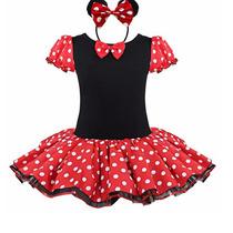 Fantasia Minnie Arco Body Vestido Infantil Festa Menina