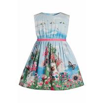 Vestido Infantil Estampa Coelho Lindo!!! Pronta Entrega