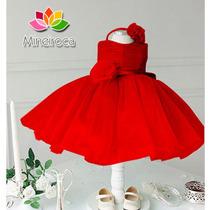 Vestido Festa Vermelho 7 A 9 Meses Pronta Entrega