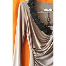 Vestido Alphorria Jersey Bordado Paetês P