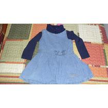 Vestido Jeans Com Blusa Gola Alta Da Malwee (frete Grátis)