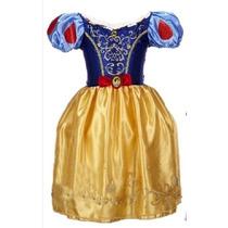 Vestido Fantasia Princesa Branca De Neve Frete Gratis