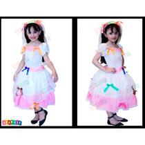 Vestido Noiva Junino Infantil Noivinha Festa Junina Caipira