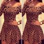 Vestido Oncinha Casual Chiffon Onça Leopardo Muito Lindo