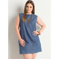 Vestido Jeans Plus Size Tubinho -moda Plus Size Barato!