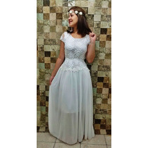 Vestido Femininos Renda Festa Noiva Noivado Casamento Civil