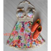 Vestido Renda Rodado Balada Festa Casual Reveilon Verão