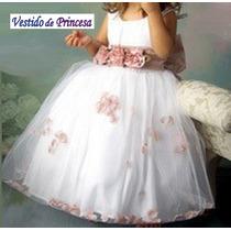 Vestido Festa Infantil Florista Daminha - Pronta Entrega