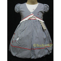 Vestido De Festa Infantil Com Bolero - Marinheira 01a02anos