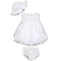 Vestido Branco Bebê Menina Batizado