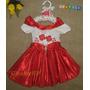 Vestido De Festa Infantil Bebê Luxo - Brinde: Tiara