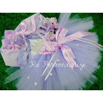 Fantasia Tutu Princesa Bailarina Lilas