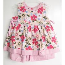 Vestido Infantil Rosa Florido - Pronta Entrega