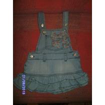 Ne061 Jardineira Jeans Da Poim Tamanho: 1/2 Anos