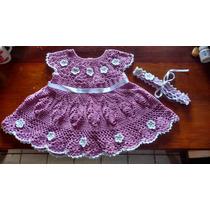 Vestido Crochê Infantil ( Pronta Entrega)