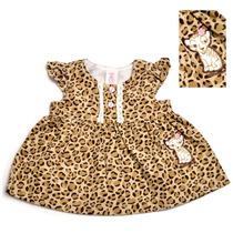 Vestido Importado Infantil Oncinha - Pronta Entrega