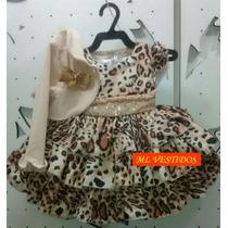 Vestido De Bebe Cattai De Oncinha - Tam P / G