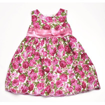 Vestido Infantil Rosa Florido - Pronta Entrega!