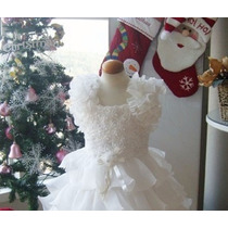 Vestido Bebê Batizado Daminha Princesa Casamento Babados