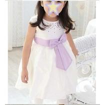 Vestido Princesa Branco Bebe Menina Casamento Aniversario