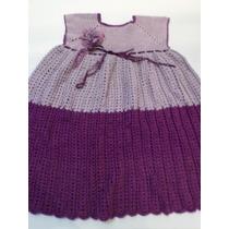 Lindo Vestido Em Crochê Com Bolero Tamanho 6 A 8 Anos