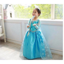 Vestido Elsa Anna Frozen Pronta Entrega 3 A 7 Anos Fantasia