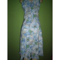 Vestido Crepe De Seda Estampa Floraltamanho M