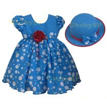 Vestido Fantasia Infantil Galinha Pintadinha - Frete Grátis