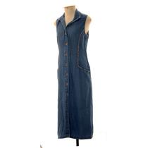 Vestido Jeans Chemise Vintage Bordado Fin Arte Semi Novo Top