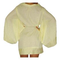 Vestido Kimono Em Lesie - Amarelo / Branco - Saída De Praia